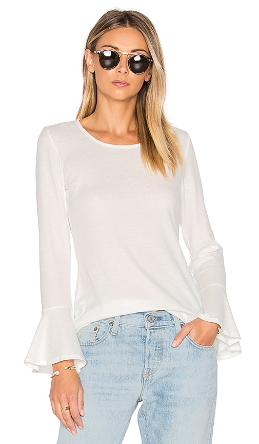NYTT Bell Sleeve Thermal Tee in White