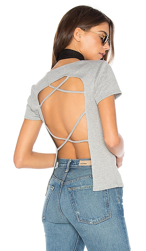 NYTT Open Back Tee in Gray