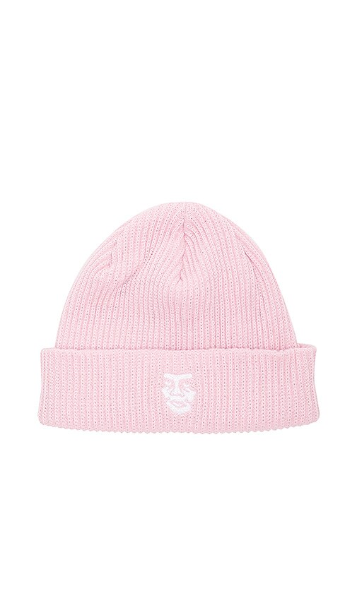 Obey Creeper Beanie in Pink