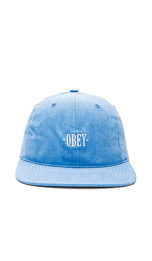 Obey Wilhelm Cap in Blue