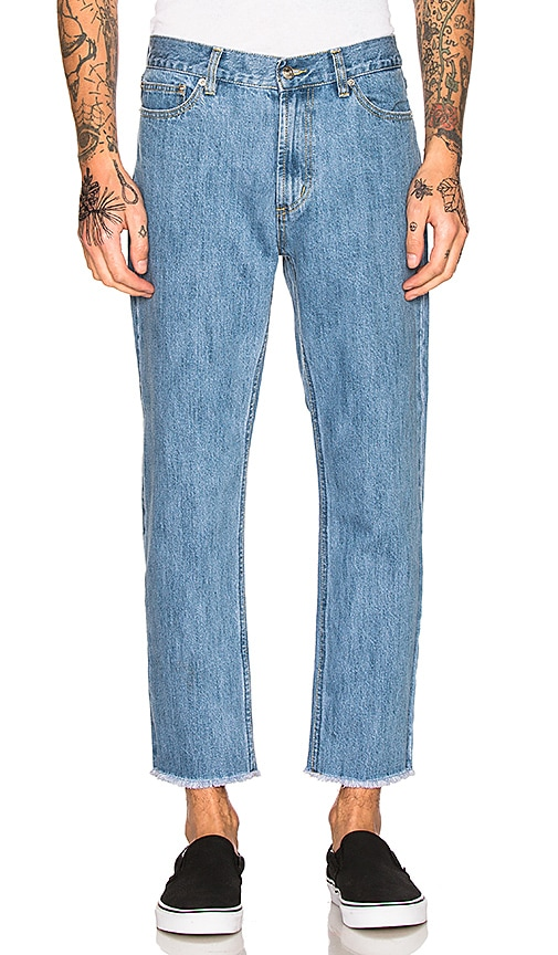 Obey New Threat Cut Jeans in Light Indigo