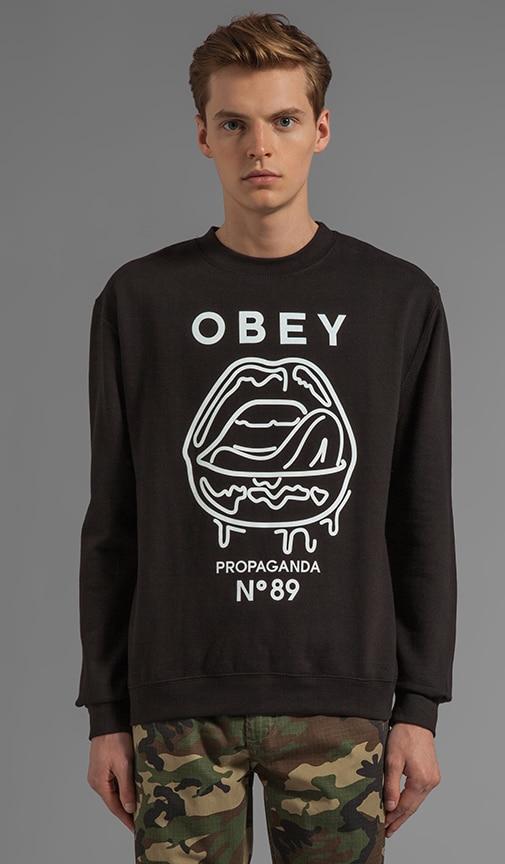 Wet Lips Graphic Pullover Sweatshirt