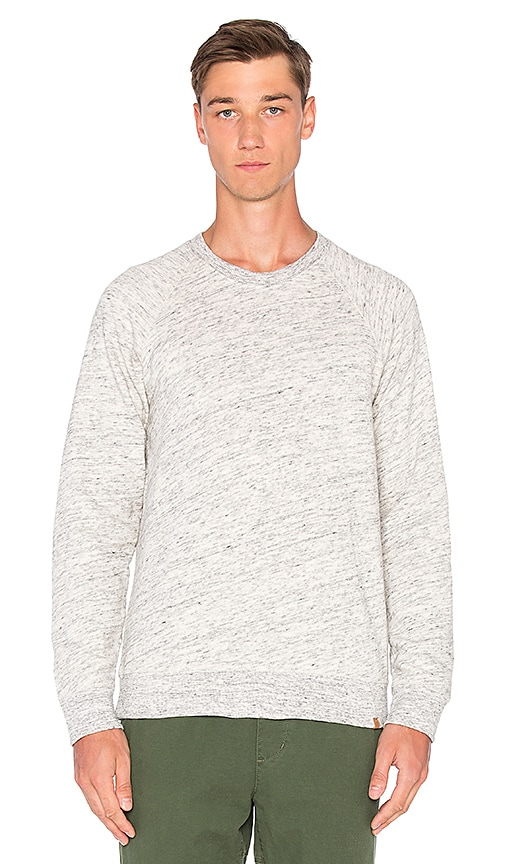 Obey Monument Fleece Crew in White