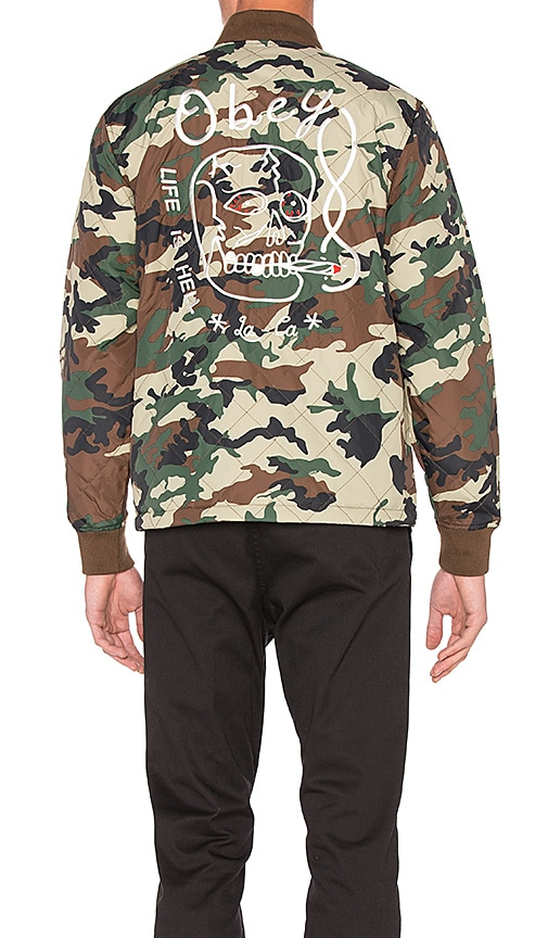 Obey Savage Hell Jacket in Green