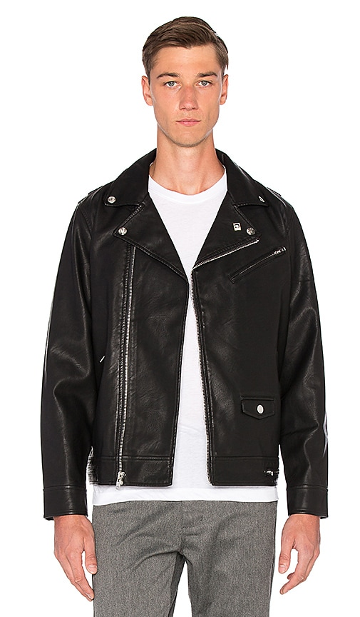 Obey Bastards PU Jacket in Black