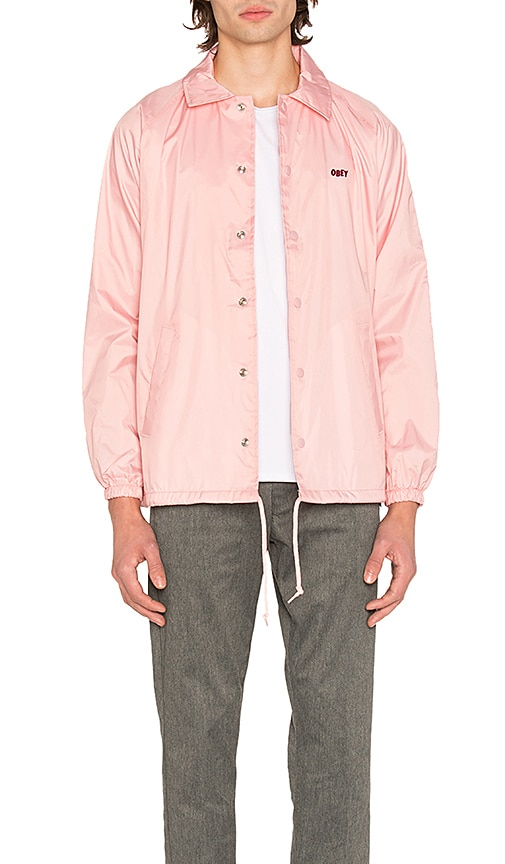 Obey Unusual Activity Coaches Jacket in Pink