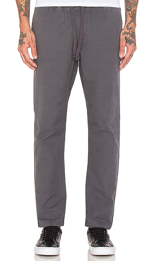 Obey Traveler Slub Twill Pant in Gray