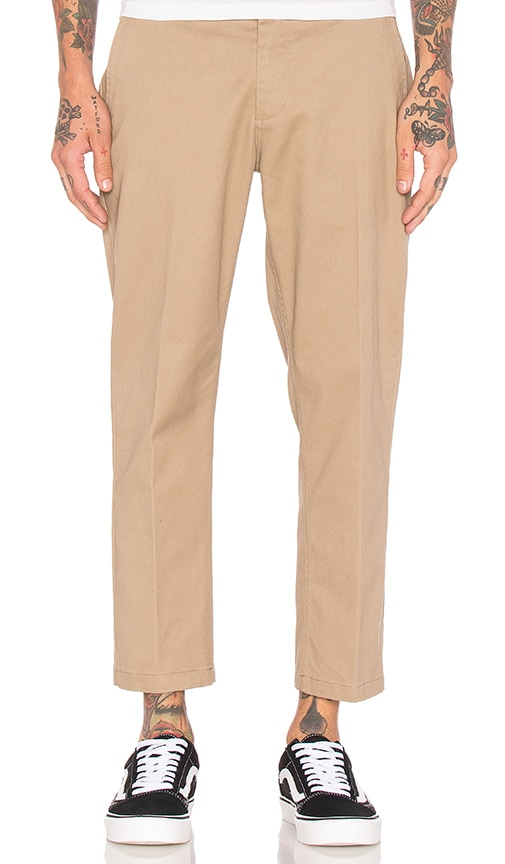 Obey Straggler Flooded Pant in Tan