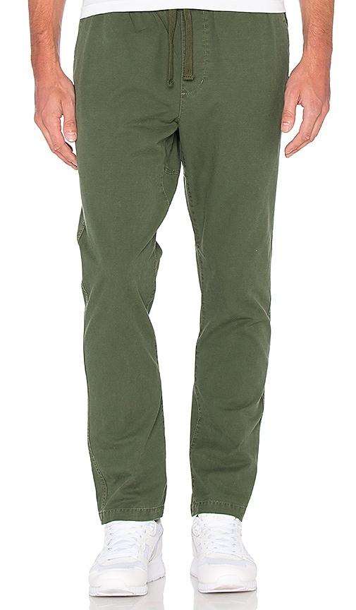 Obey Traveler Pant in Dark Army