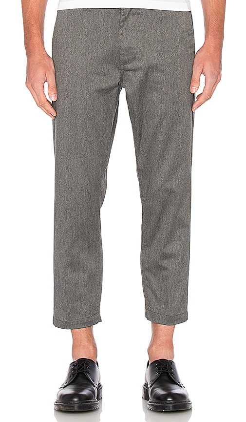 Obey Straggler Flooded Pant in Heather Grey