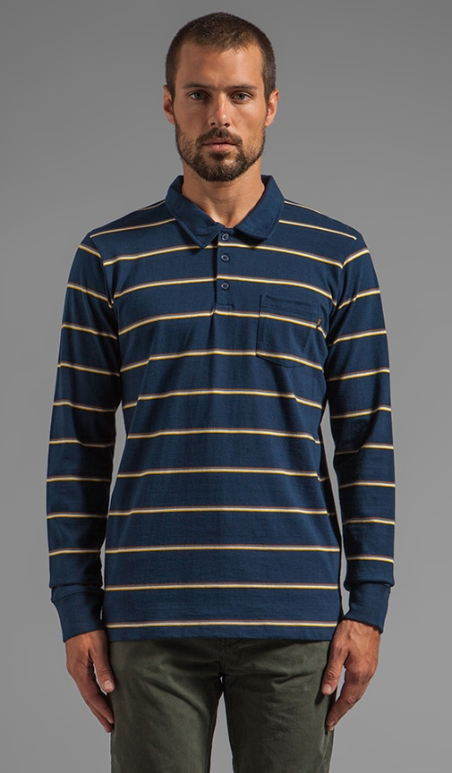 Hyde Street L/S Striped Polo