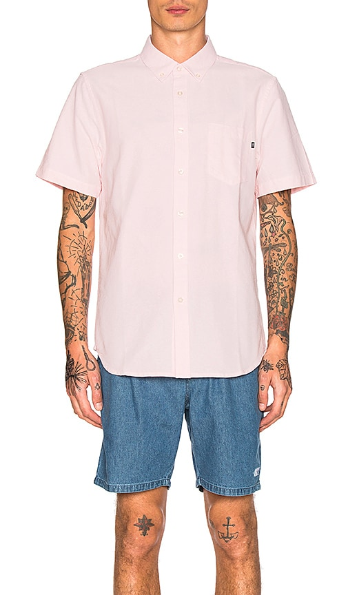 Obey Dissent II S/S Shirt in Blush