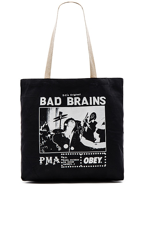 Obey Bad Brains PMA Photo Tote in Black