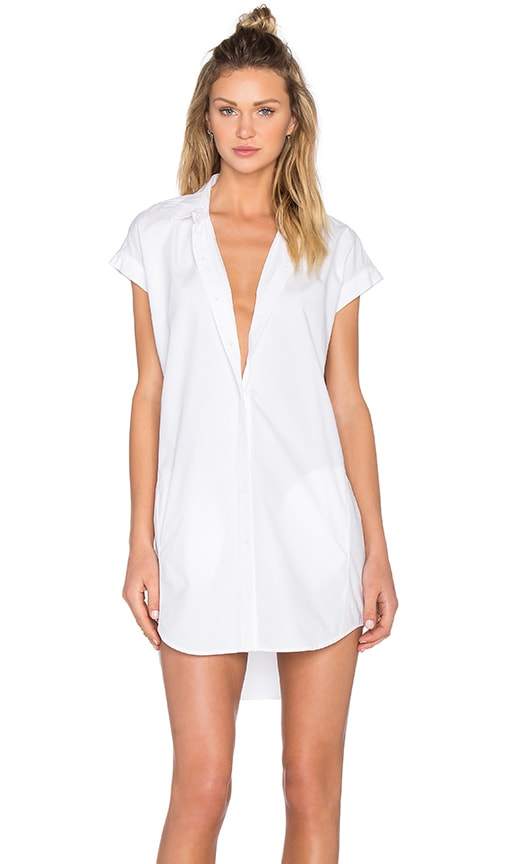 Obey Fiona Shirt Dress in White