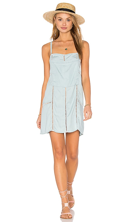 Obey Concrete Beach Dress in Baby Blue