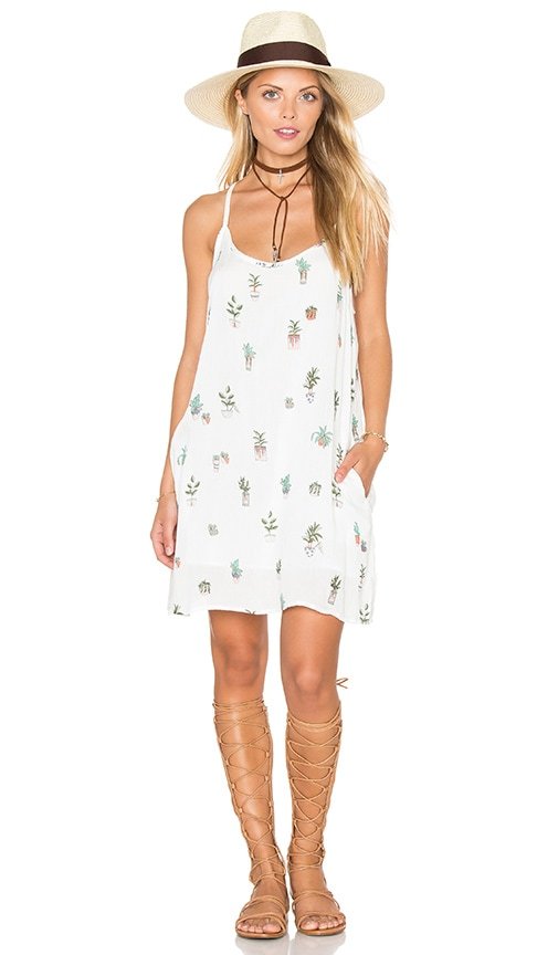 Obey Paint Bloom Dress in White