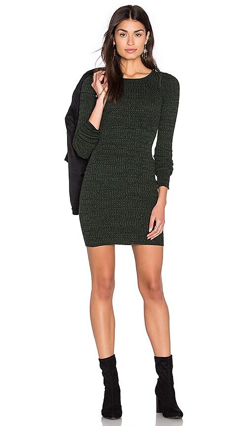 Obey Hanna Dress in Dark Green