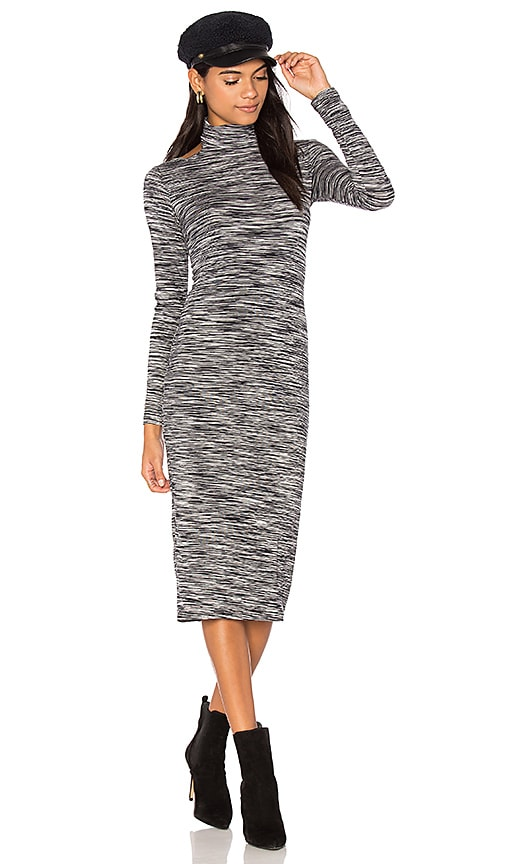 Obey Zoey Cut Out Dress in Black