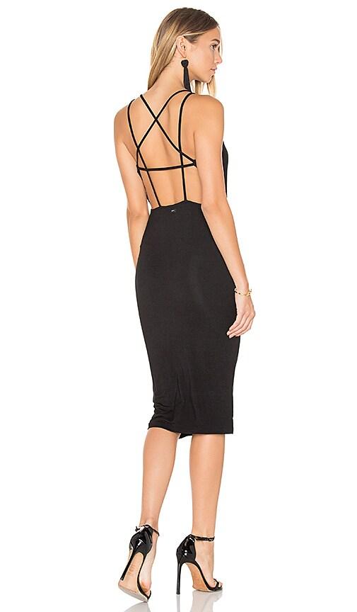 Obey Joan Strap Back Dress in Black