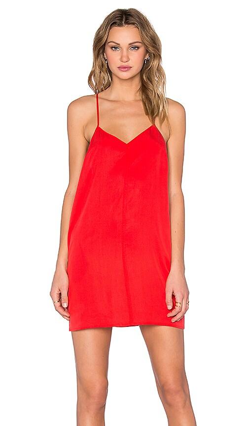 Obey Smith Slip Dress in Fiery Red