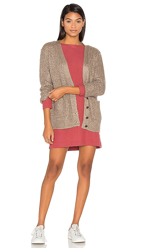 Obey Barnette Cardigan in Taupe