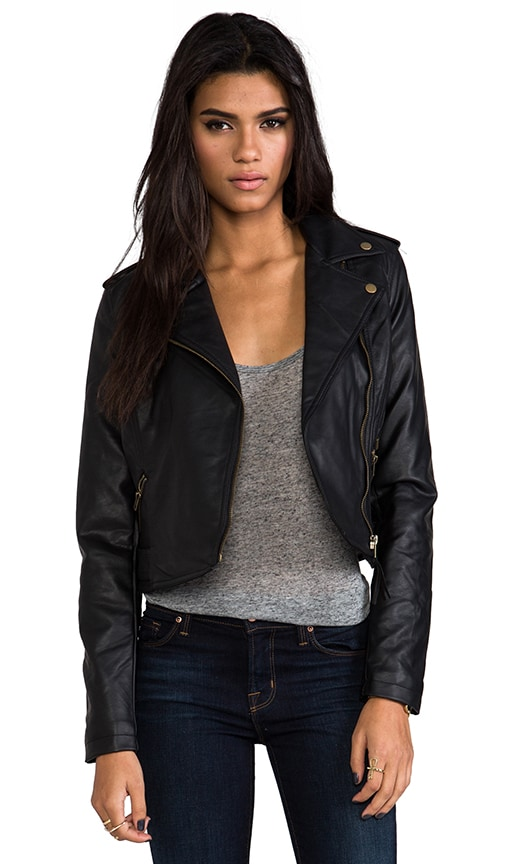 Hideout Moto Jacket with Faux Fur