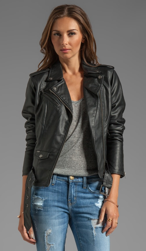 Sweet Revenge Faux Leather Moto Jacket