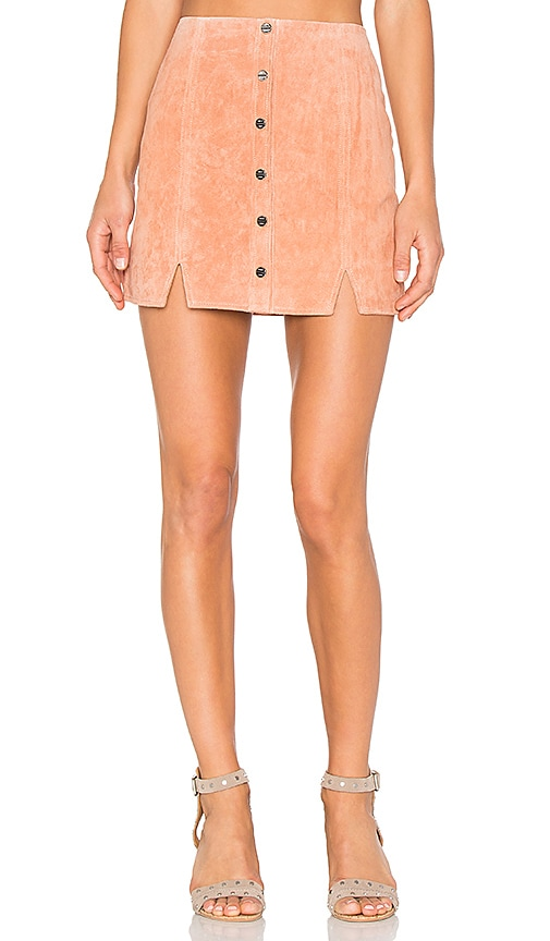 Obey Soho Suede Skirt in Orange