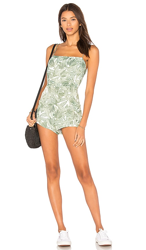 Obey Tropique Romper in Green