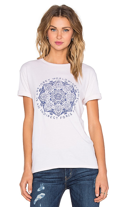 Obey Force For Change Tee in Rose Grey