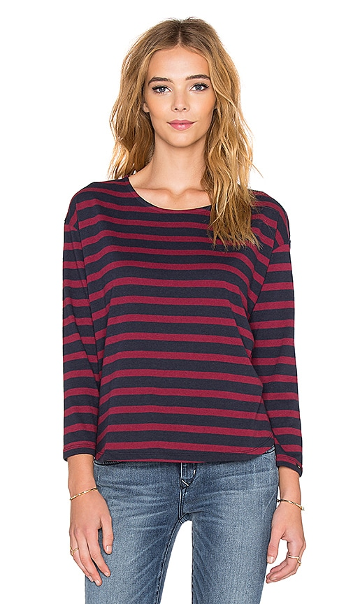 Obey Camille Long Sleeve Tee in Navy Multi