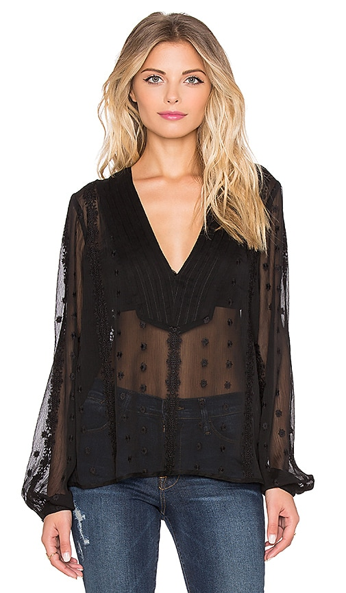 Obey Blood Moon Blouse in Black