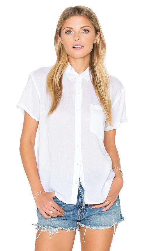 Obey Dark Alley Buttondown Shirt in White