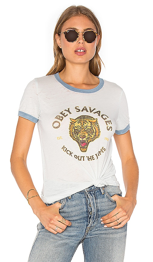 Obey Tiger Savages Tee in Baby Blue