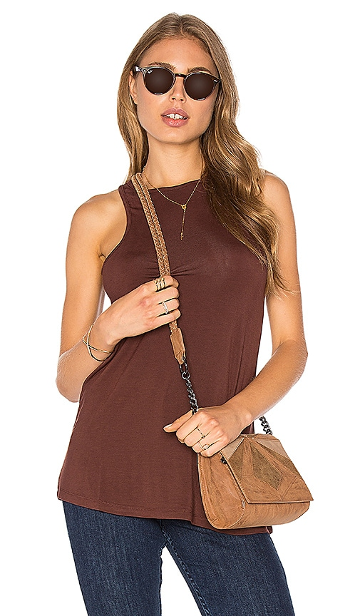 Obey Olivia Tank in Brown
