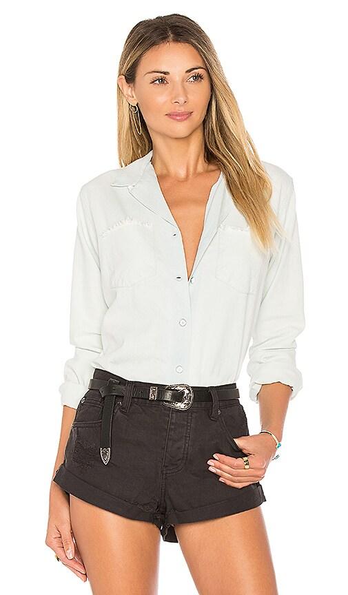 Obey Hudson Button Down Shirt in White