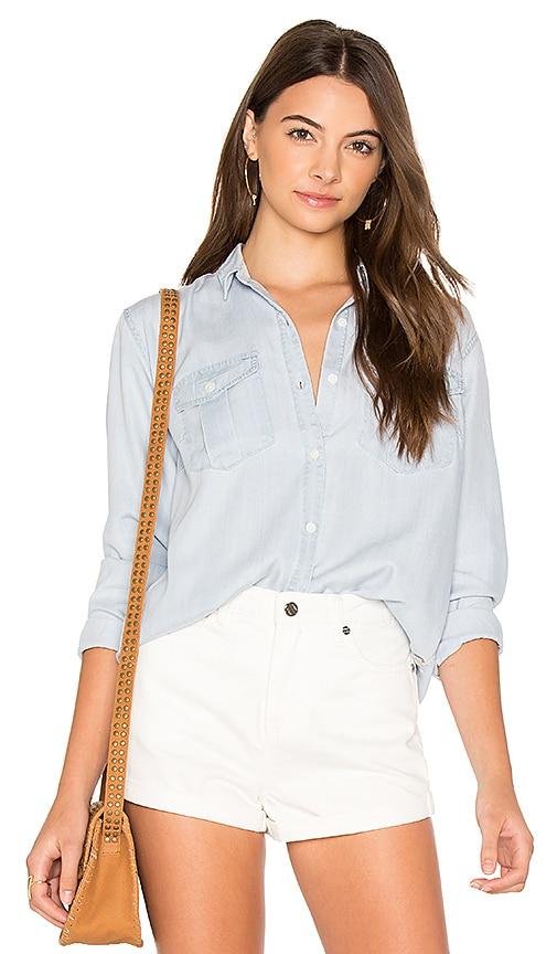 Obey Denizen Button Down Shirt in Baby Blue