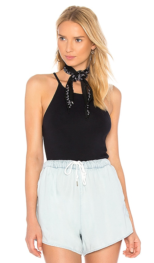 Obey Dark Bloom Top in Black