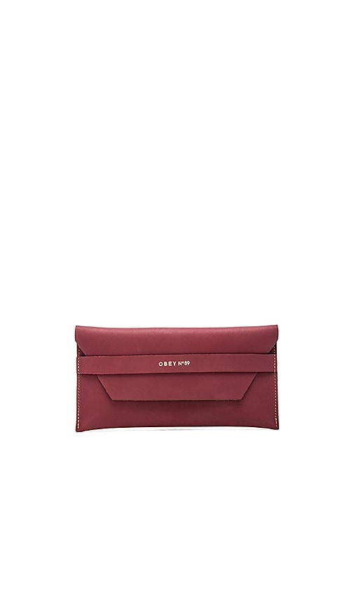 Obey Newbury Clutch II in Oxblood