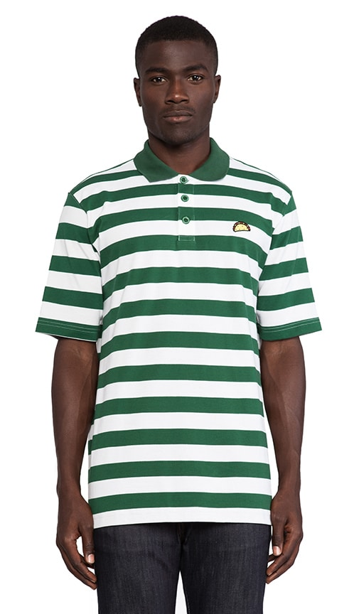 Taco Green Stripe Polo