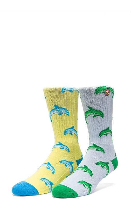 Jasper Dolphin HD Socks in Light Blue, Odd Future Jasper Dolphin HD Socks