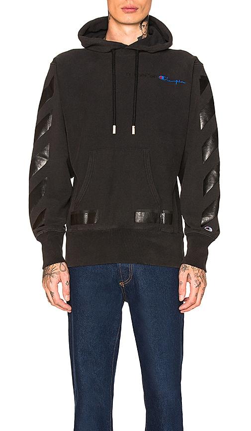 billig försäljning obesegrad x exklusiva skor OFF-WHITE Champion Hoodie in Black | REVOLVE