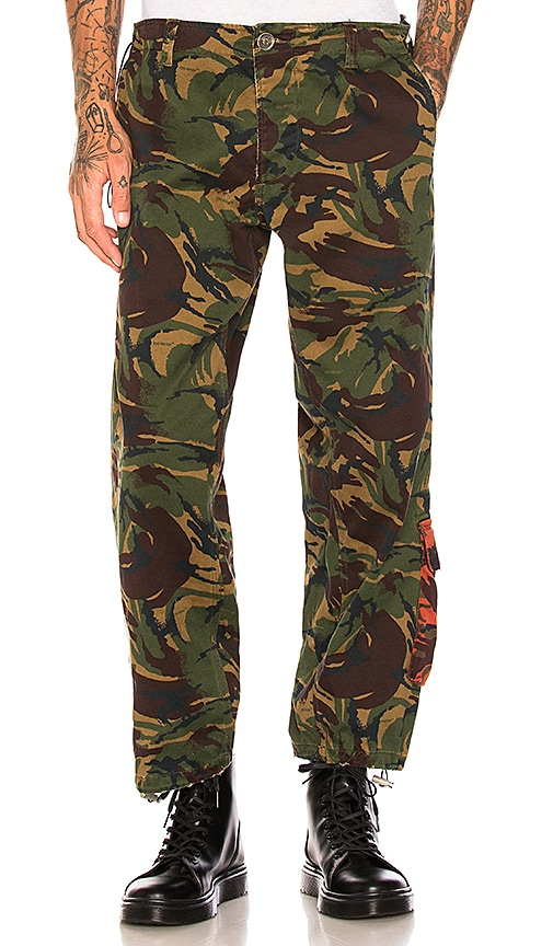 42a1bd3a53456 OFF-WHITE Chino Work Pants in Camo | REVOLVE
