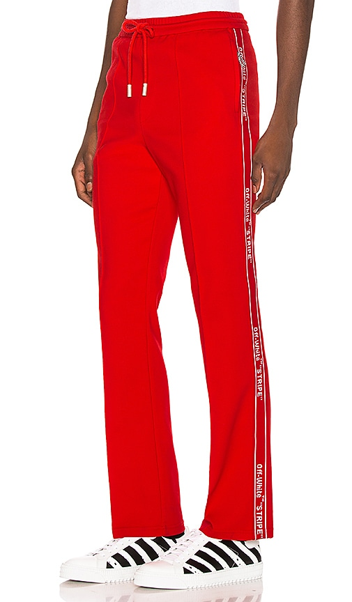 aa6159fc OFF-WHITE Track Pant in Red | REVOLVE