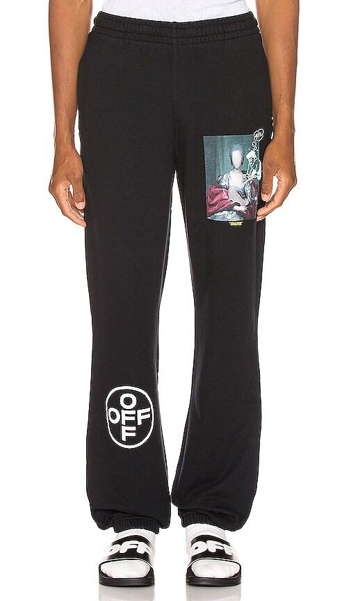 Off-white Black & Multicolor Mariana De Silva Slim Lounge Pants In Black Multi