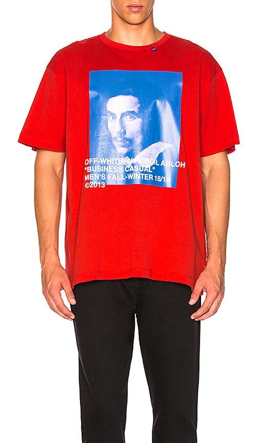 4e882114ef OFF-WHITE Bernini Tee in Red   Blue