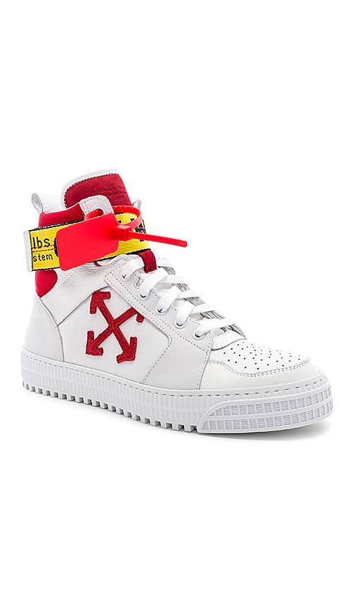 WHITE Industrial Belt Hi-Top Sneaker