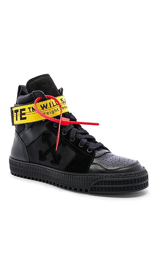 Industrial Belt Hi-Top Sneaker in Black