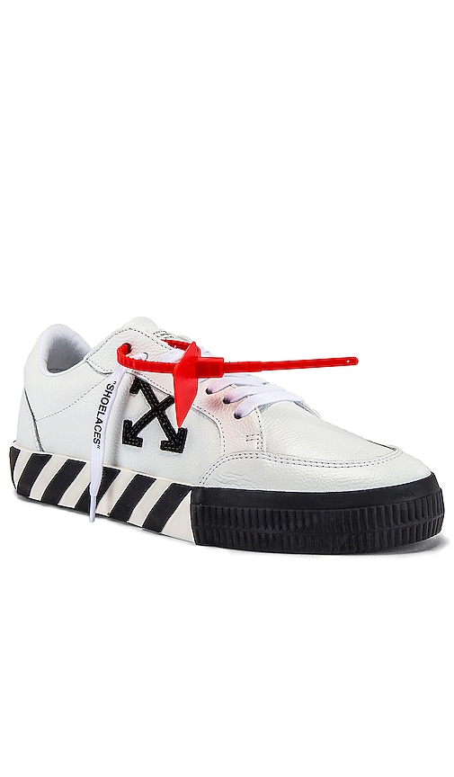 Off-White Suede-Trimmed Printed Canvas Sneakers - White In White & Black