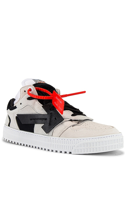 Off-white Off-court Suede And Leather Sneakers In Weiß